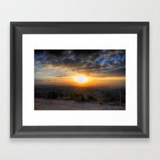 Sunset Over Hezbollah Framed Art Print