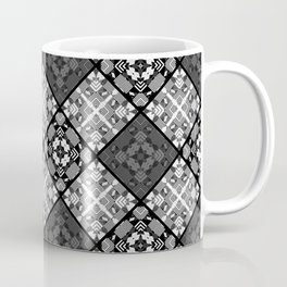 Black and white patchwork 3 Coffee Mug