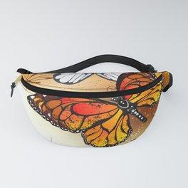 Summer Butterflies Monarchs Fanny Pack