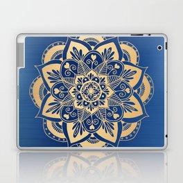 Blue and Gold Flower Mandala Laptop & iPad Skin