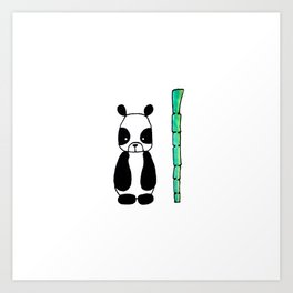 Little Panda Art Print