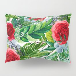 Ruby Roses Collage Pillow Sham