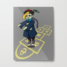 Hopscotch Hopping Corpse Metal Print