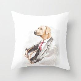 Dog Eat Dog World - Ridgeback Suit Throw Pillow