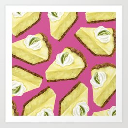 Key lime pie Art Print