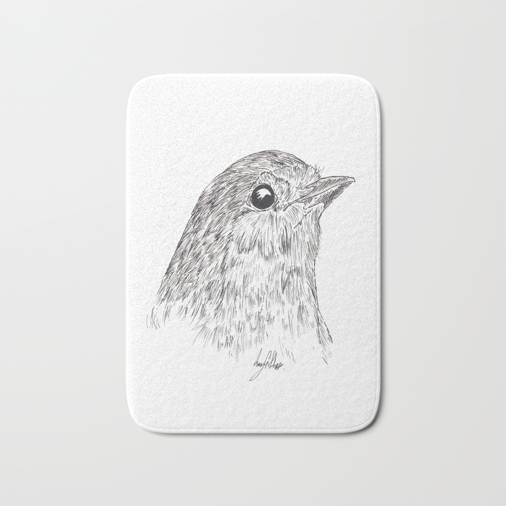 Robin Redbreast Bath Mat by Gillifish (BMT8878248) photo