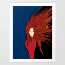 Fire Woman Art Print