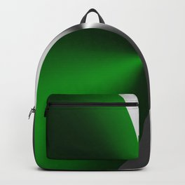 Green & Silver Faux Metallic Design Backpack