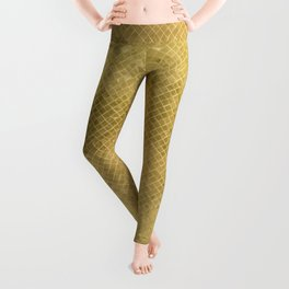 Modern geometric elegant stylish luxury gold Leggings