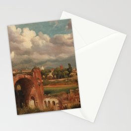 Jean-Charles-Joseph Remond - View of the Basilica of Constantine from the Palatine, Rome Stationery Cards