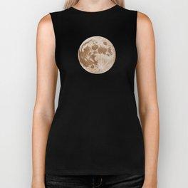 Moon Portrait 5, Linen Moon Biker Tank