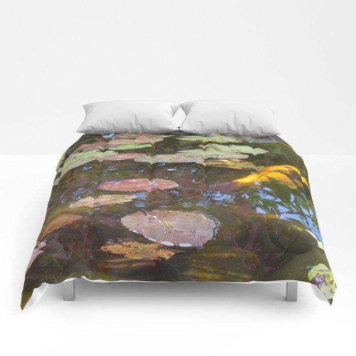 Koi Pond and Lilypads Comforters