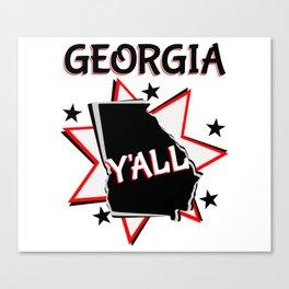 Georgia State Y'all Canvas Print