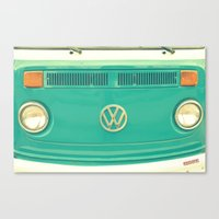 vw Canvas Prints featuring Groovy VW by RDelean