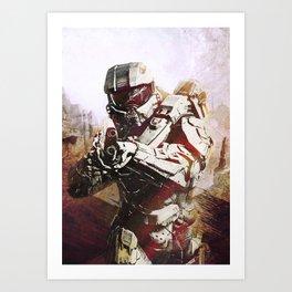 Halo 5 Master Chief Inspired Art Print Art Print