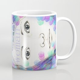 Nasty Woman - Original Drawing with Digital Art - Feminist Art Coffee Mug