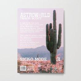 Travis Astro World Scott Sicko Mode Metal Print