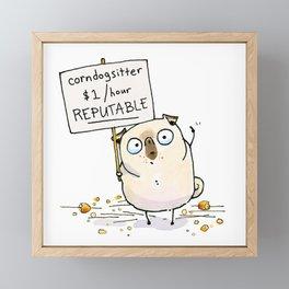 Corndogsitter Framed Mini Art Print