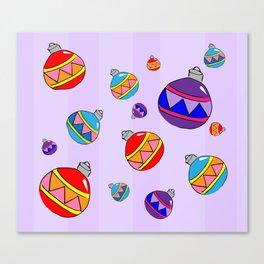 Bauble Pattern Canvas Print