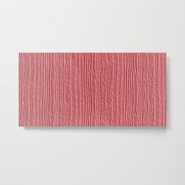 Strawberry Ice Wood Grain Color Accent Metal Print