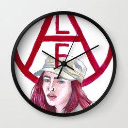 Okja - Red Wall Clock