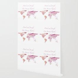 Cotton Candy Sky World Map - Mark and Jennifer Wallpaper