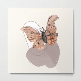 Watercolor Moth No. 10 Metal Print