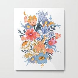 Fantastic Folk Flower Garden Metal Print