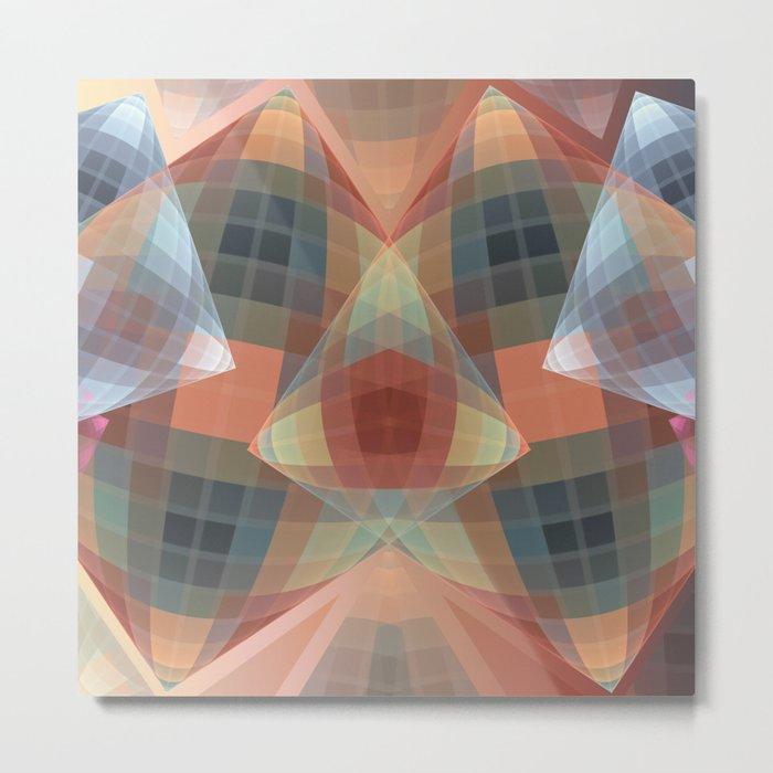 Diamonds and patterns, trendy geometric abstract Metal Print