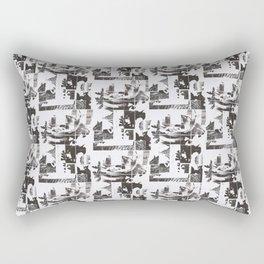 Newsprint Rose Rectangular Pillow