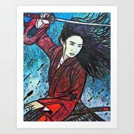 mushu in new Art Print