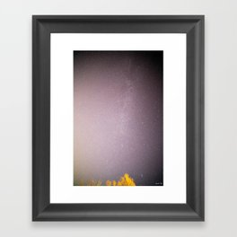 Seven Sisters near the Milky Way Framed Art Print