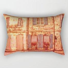 The Old Neighborhood, Rustic Buildings Rectangular Pillow