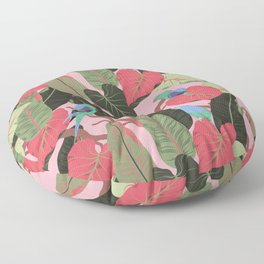 Sunny Hawaii Tropical Exotic Birds of Paradise Floor Pillow