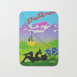 Diablerets Mountain Swiss Alps Travel Bath Mat