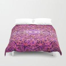 Mandala Pink Night Duvet Cover