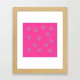 Old Fashion Pink Blouses Pattern Framed Art Print