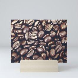 roasted coffee beans texture acrfn Mini Art Print