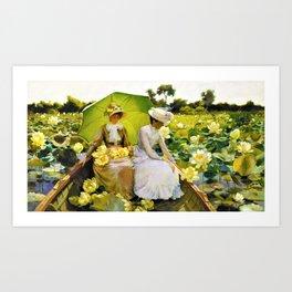 Charles Courtney Curran - Lotus Lilies - Digital Remastered Edition Art Print