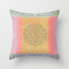 Coral Melody Throw Pillow