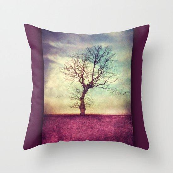 ATMOSPHERIC TREE Throw Pillow