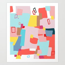 Windows of Possibility #abstractart #painting Art Print