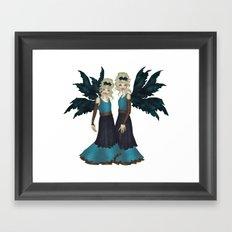 Rose Sisters Framed Art Print