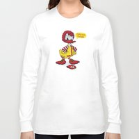 donald duck Long Sleeve T-shirts featuring Donald by 2mzdesign