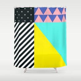 Memphis pattern 90 Shower Curtain