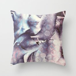 Blue Violet Monoprint Throw Pillow