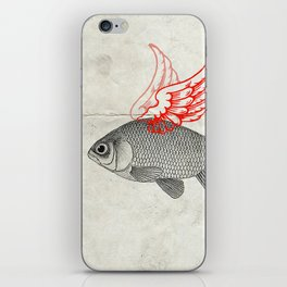 Flying Goldfish iPhone Skin
