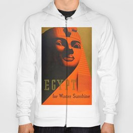 1930's Art Deco Travel Poster - Egypt for Winter Sunshine featuring Great Sphinx of Giza Hoody