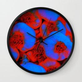 Blue Garlic Cloves Wall Clock