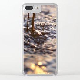 Glittering brook Clear iPhone Case